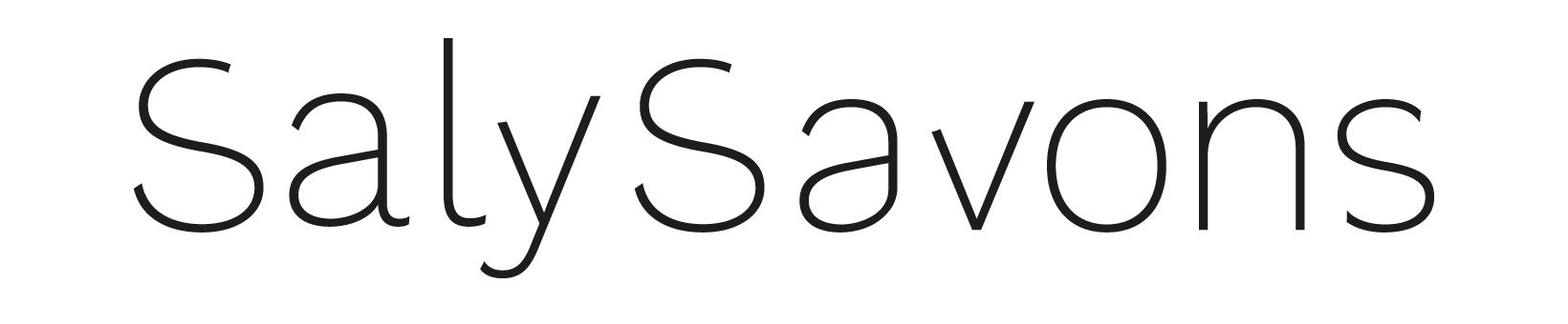Logo SalySavons, typographie simple